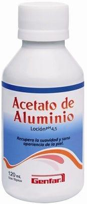 Acetato de Aluminio PH 4.5 Loción