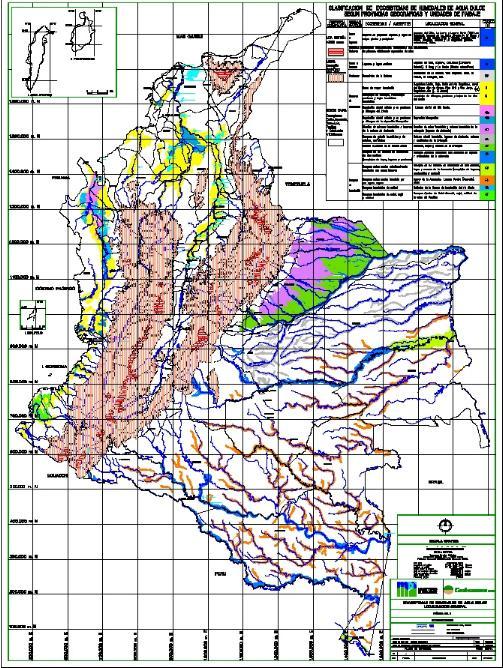 Localización de los Humedales de Colombia